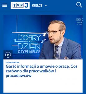 TVP Kielce - Program z udziałem mec. Wojciecha Stachowicza-Szczepanika